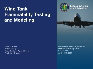 Wing Tank Flammability Testing and Modeling