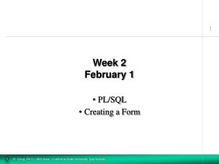 Week 2 February 1