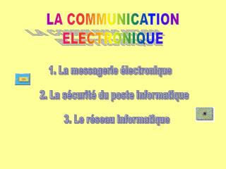 LA COMMUNICATION ELECTRONIQUE