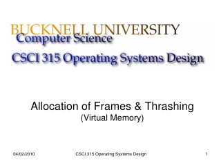 Allocation of Frames & Thrashing (Virtual Memory)