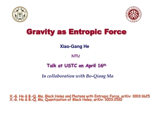 Gravity as Entropic Force