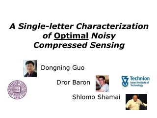 A Single-letter Characterization of  Optimal  Noisy  Compressed Sensing