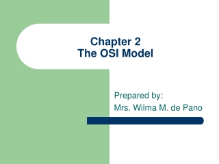 Chapter 2 The OSI Model