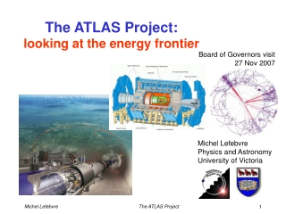 The ATLAS Project:                   looking at the energy frontier