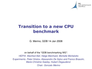 Transition to a new CPU benchmark