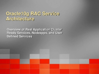 Oracle10g RAC Service Architecture