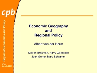 Economic Geography and Regional Policy