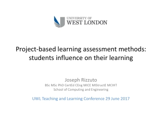Project-based learning assessment methods: students influence on their learning
