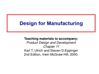 Chapter Table of Contents 1.    Introduction 2.    Development Processes and Organizations