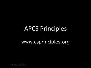 APCS Principles