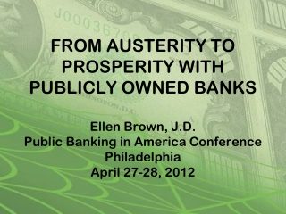 Returning to our roots:  the Declaration of Independence,  the Constitution,  and public banking