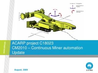 ACARP project C18023 CM2010 – Continuous Miner automation Update