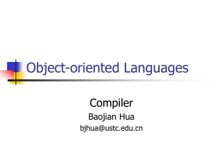 Object-oriented Languages
