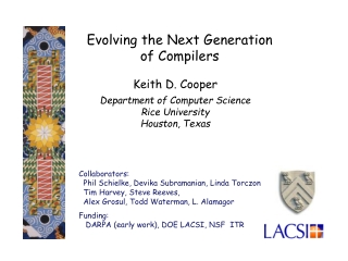 Evolving the Next Generation  of Compilers