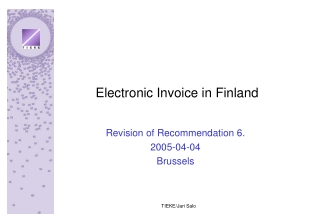 Electronic Invoice in Finland