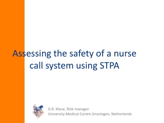 Assessing the safety of a nurse call system using STPA