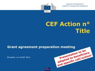 CEF Action n° Title
