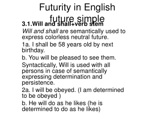 Futurity in English future simple