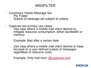 MSGFILTER