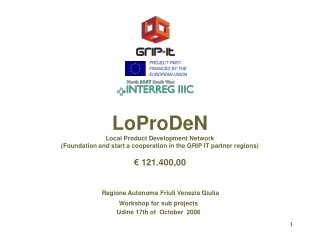 LoProDeN Local Product Development Network