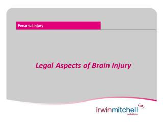 Legal Aspects of Brain Injury