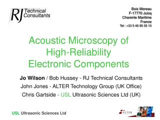 Acoustic Microscopy of  High-Reliability Electronic Components