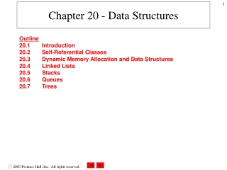 Chapter 20 - Data Structures