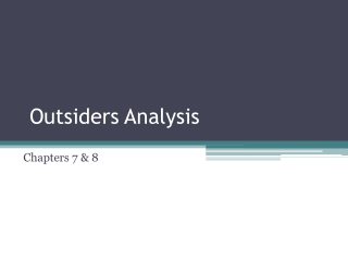 Outsiders Analysis