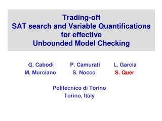 Trading-off SAT search and Variable Quantifications for effective Unbounded Model Checking