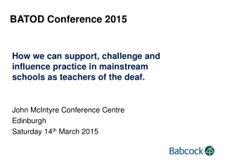 BATOD Conference 2015