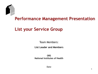 Performance Management Presentation List your Service Group