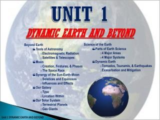 Beyond Earth Tools of Astronomy Electromagnetic Radiation Satellites & Telescopes Moon