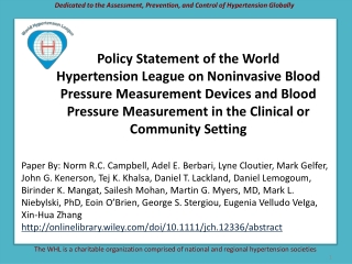Dedicated to the Assessment, Prevention, and Control of Hypertension Globally