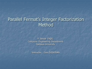 Parallel Fermat's Integer Factorization Method
