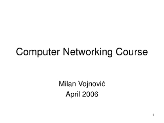 Computer Networking Course