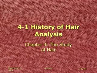 4-1 History of Hair Analysis