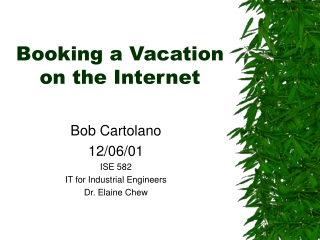Booking a Vacation on the Internet