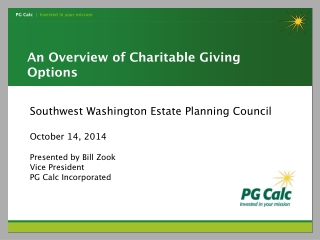 An Overview of Charitable Giving Options
