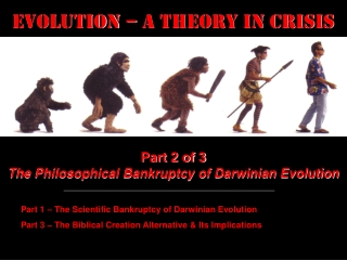Evolution – a Theory in Crisis