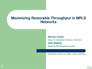 Maximizing Restorable Throughput in MPLS Networks