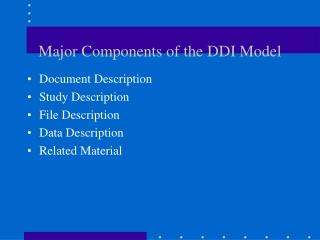 Major Components of the DDI Model