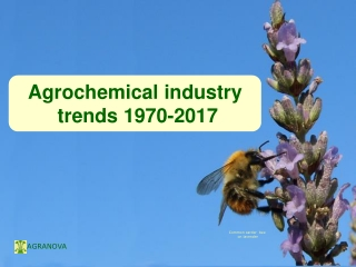 Agrochemical industry  trends 1970-2017