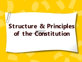 Structure & Principles  of the Constitution
