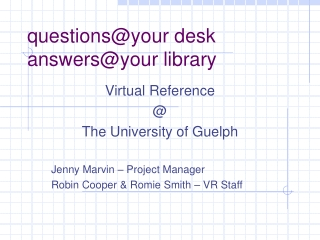 questions@your desk answers@your library
