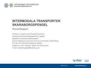Intermodala Transporter Skaraborgspendel