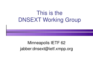 This is the DNSEXT Working Group