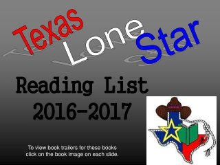 Reading List  2016-2017