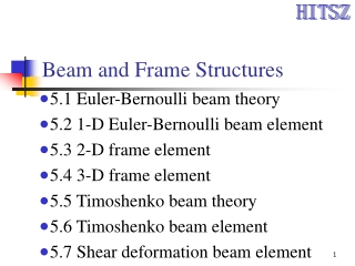 Beam and Frame Structures