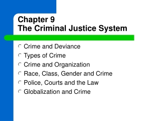 Chapter 9 The Criminal Justice System