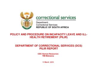 CDC Human Resources TMI Mokoena